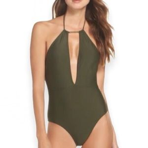 Ted Baker Pikka Keyhole Cutout One Piece Swimsuit
